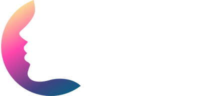 logo - the face of latina professionals white color